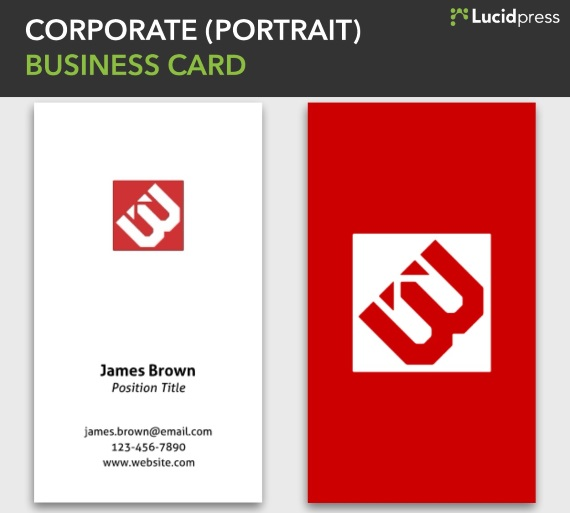 lucidpress corporate portrait vertical business card
