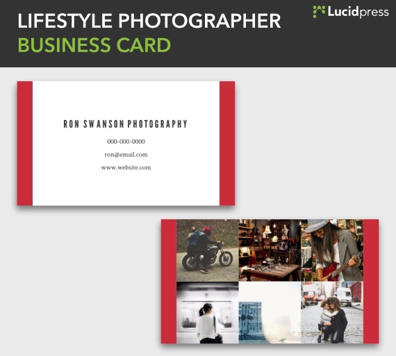 lucidpress lifestyle photographer creative business card