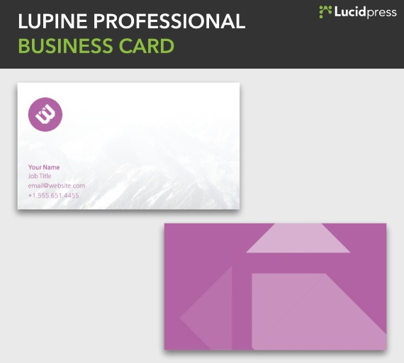 lucidpress lupine simple business card