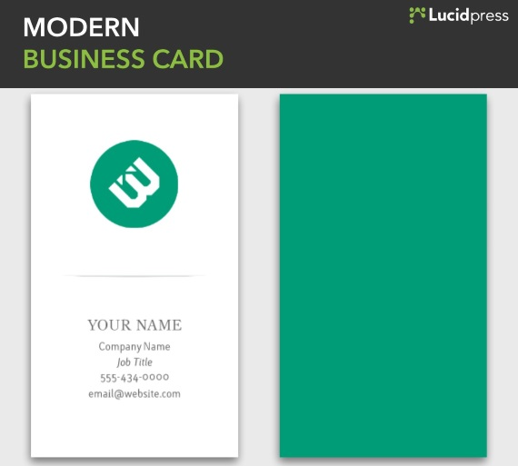 lucidpress modern vertical business card