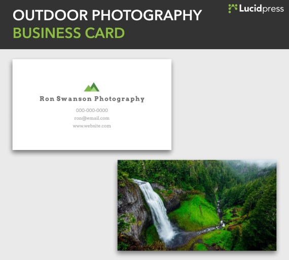 lucidpress outdoor photography double sided business card