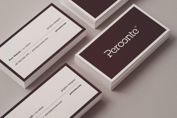 perconte double sided business card
