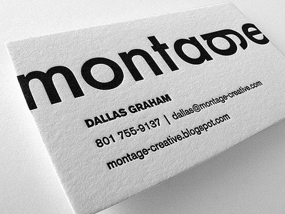 the mandate press simple business card