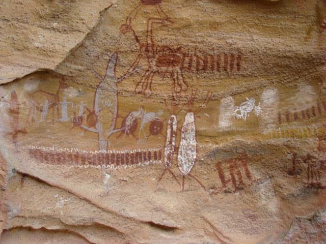 Cave paintings in Serra da Capivara