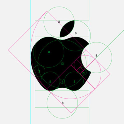 Apple logo symmetry and balance