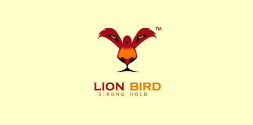 Lion Bird double-meaning logo