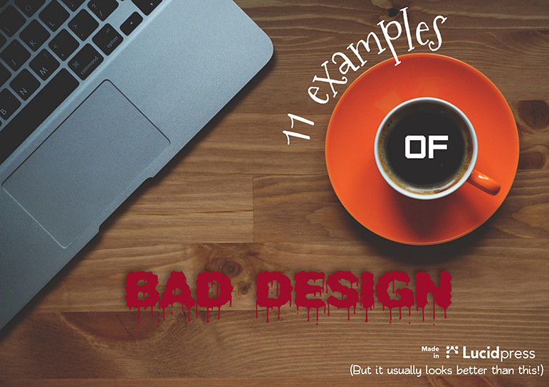 11 examples of bad design diy marketing for Bad designer