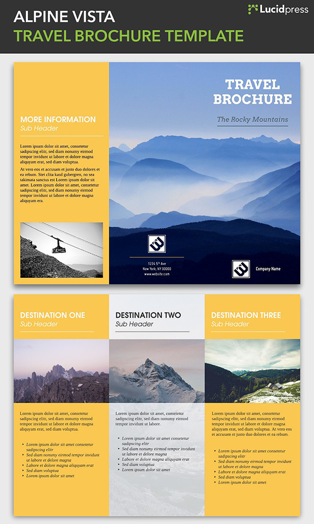 Creative Brochure Design Ideas For Your Inspiration - Brochure template ideas