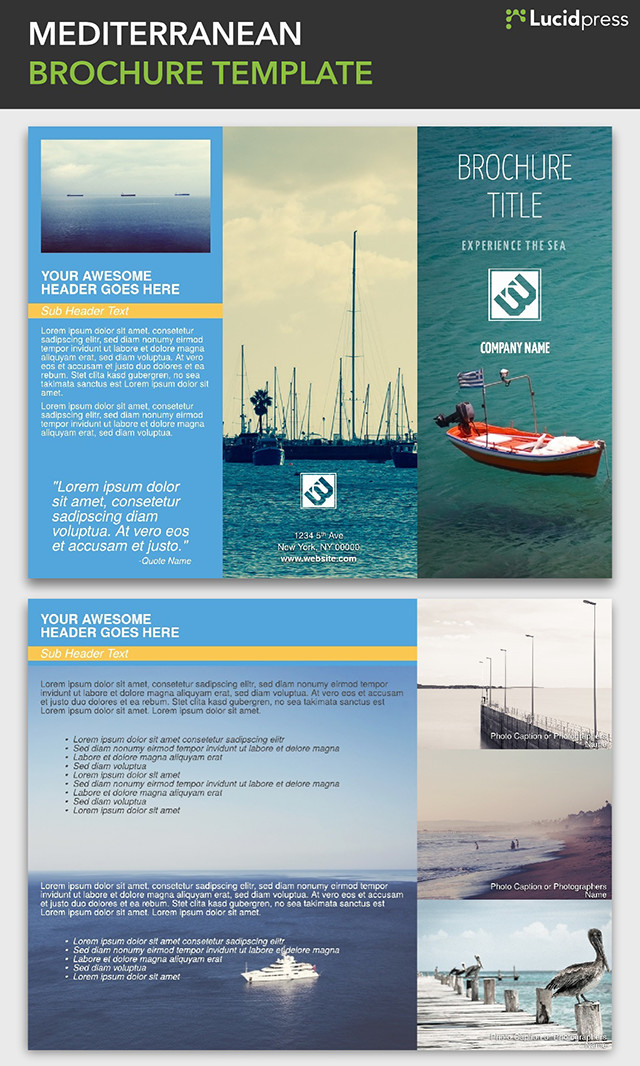 big sky travel brochure template