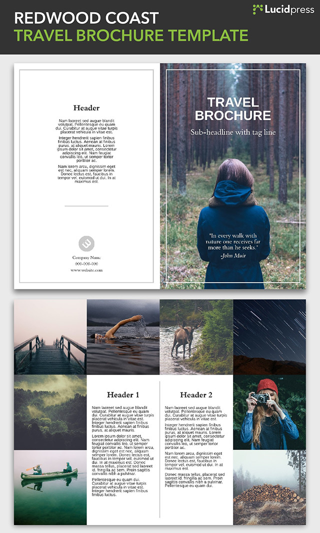 21 creative brochure cover design ideas for your inspiration for Creative brochure template