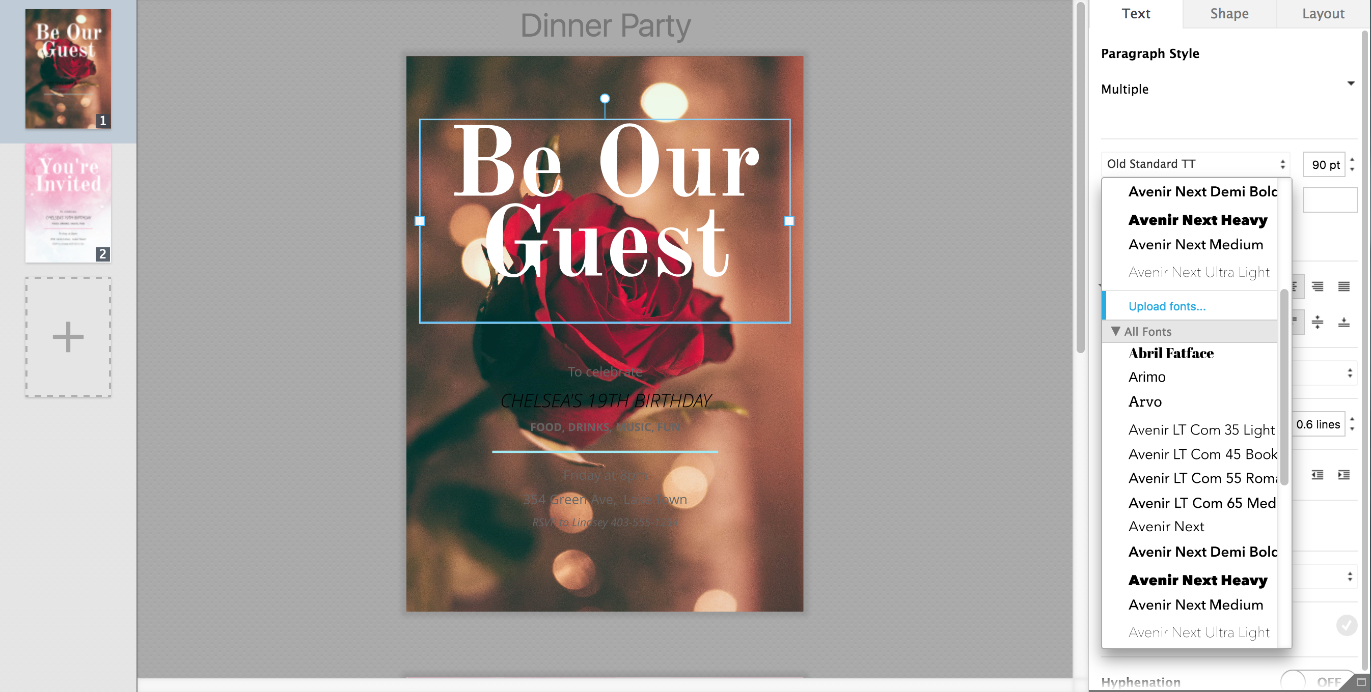 Be Our Guest How to Make Invitations in Lucidpress