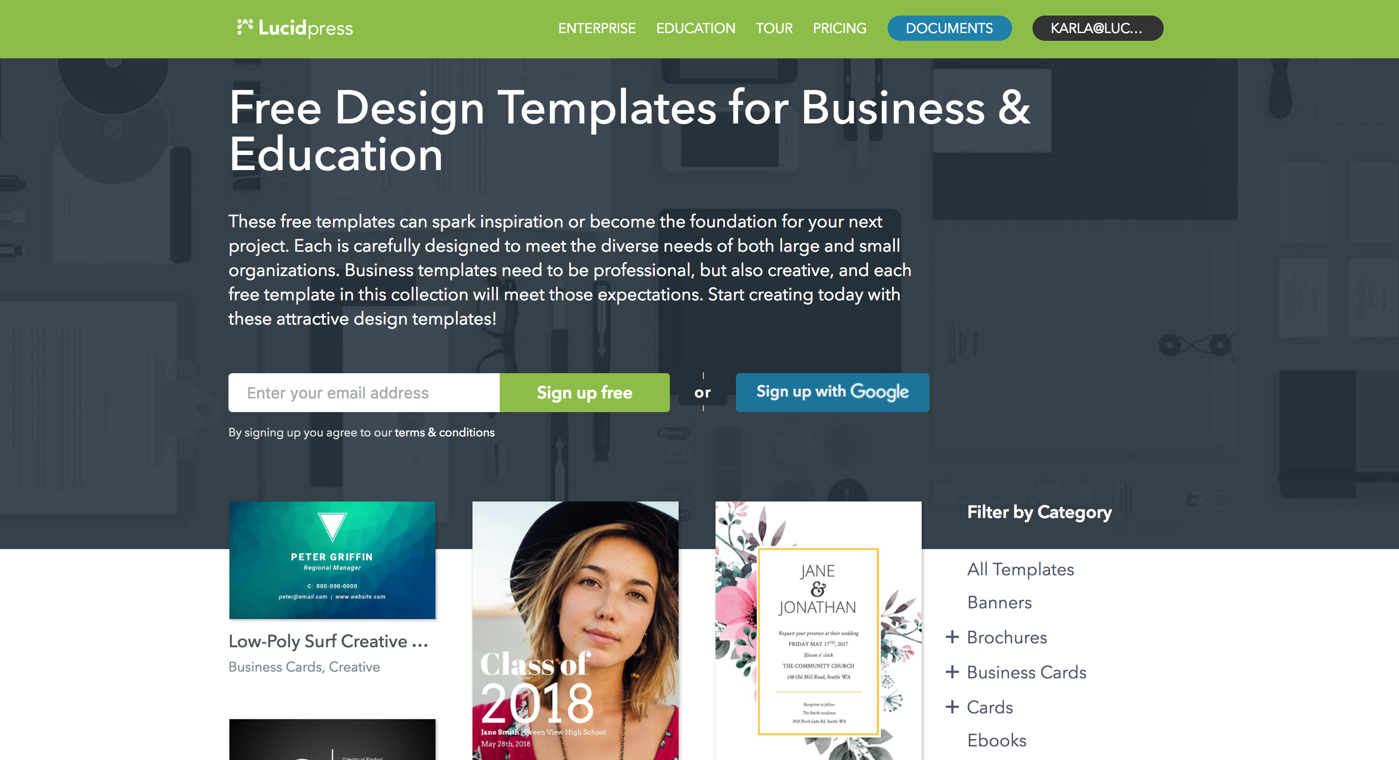 Lucidpress free templates