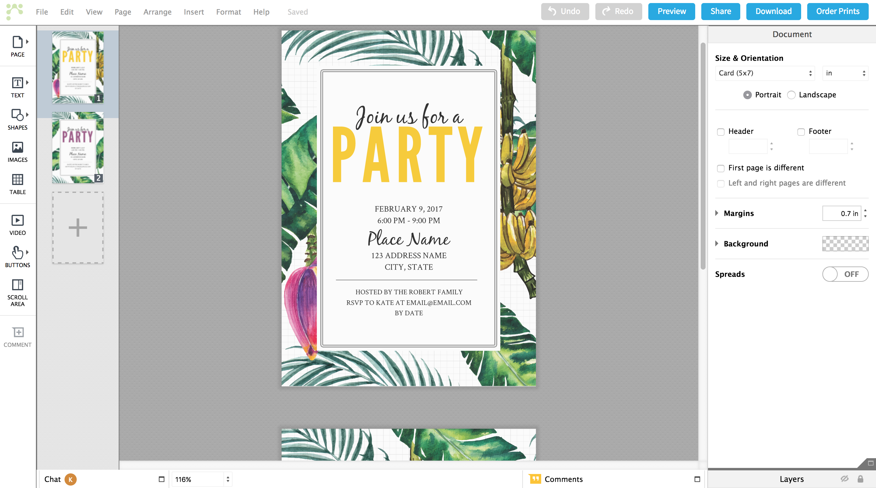 how to make free party invitations