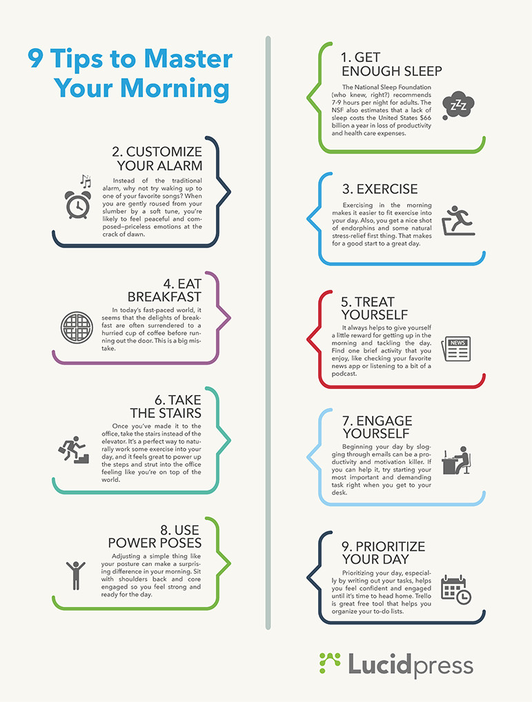 9 tips to master your morning routine lucidpress