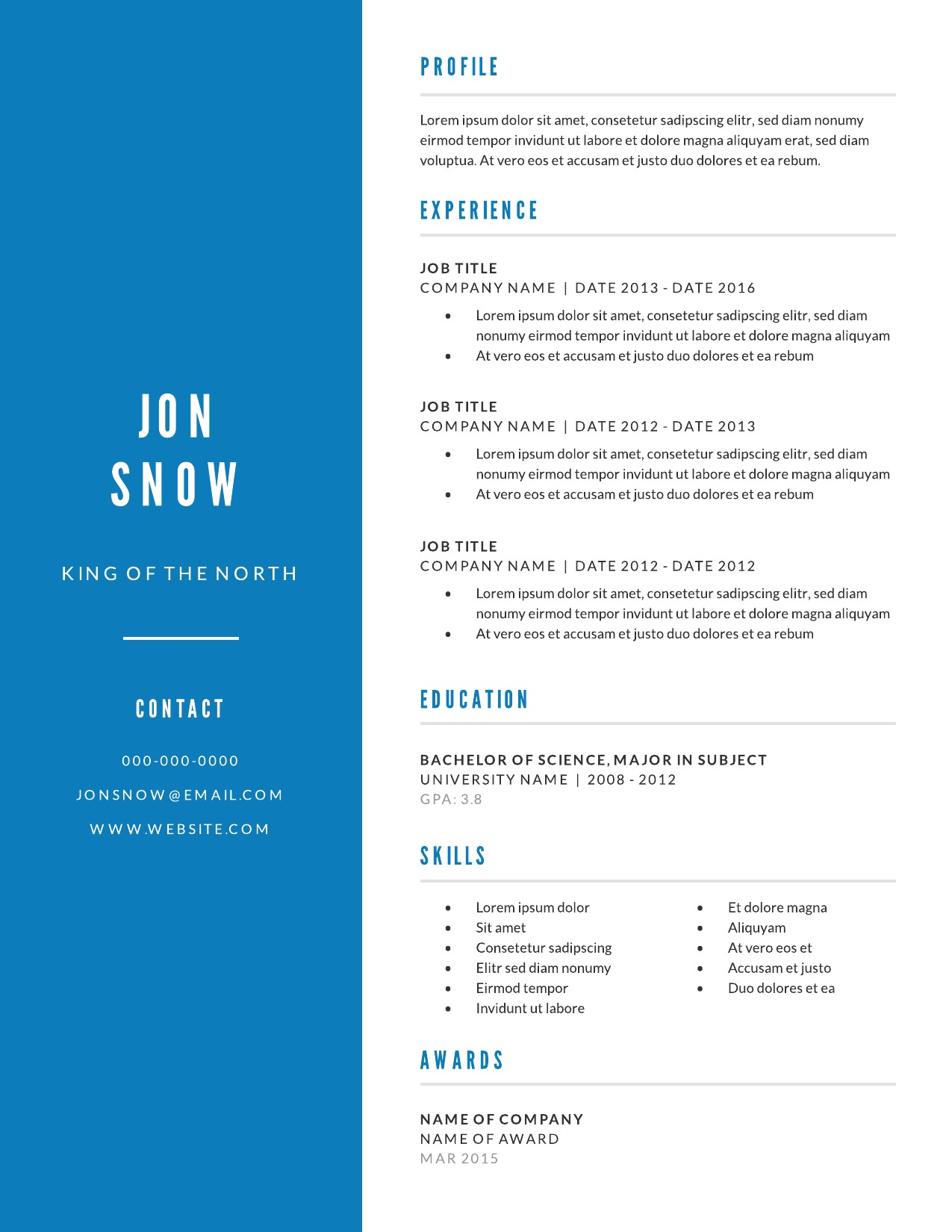 Resume examples & writing tips