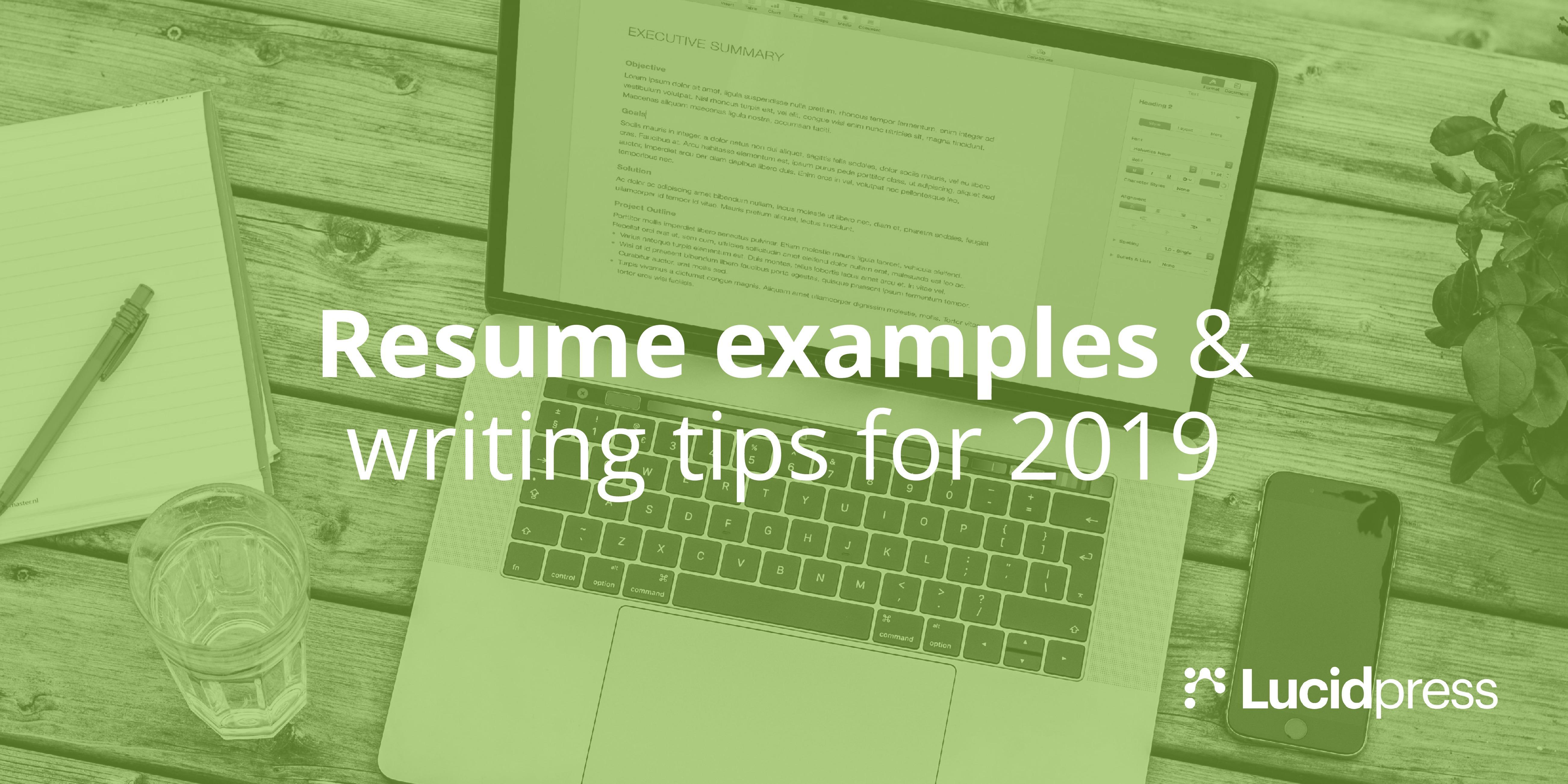 Resume Examples & Writing Tips for 2019 | Lucidpress