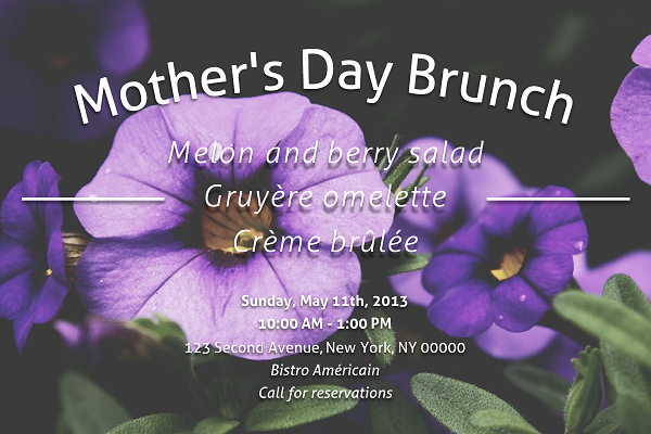 Mother's Day Event Invitation Template