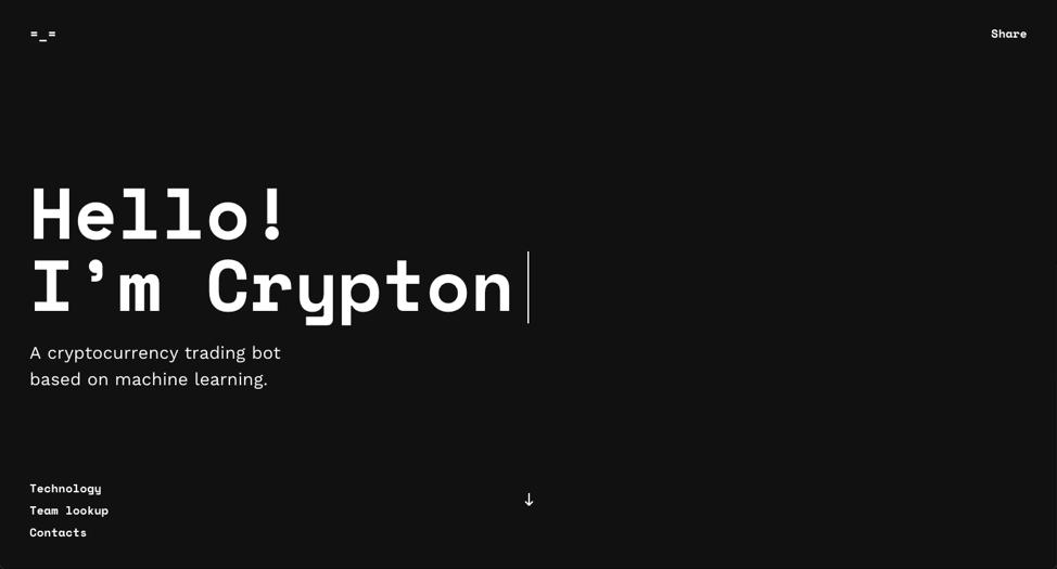 Crypton homepage