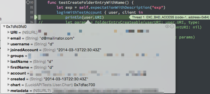 LLDB showing incorrect values when inspecting Swift variables.