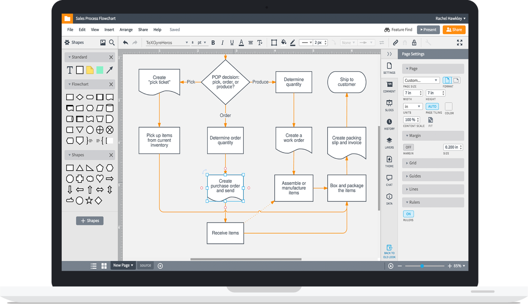 Flowchart maker lucidchart increase innovation ccuart Choice Image
