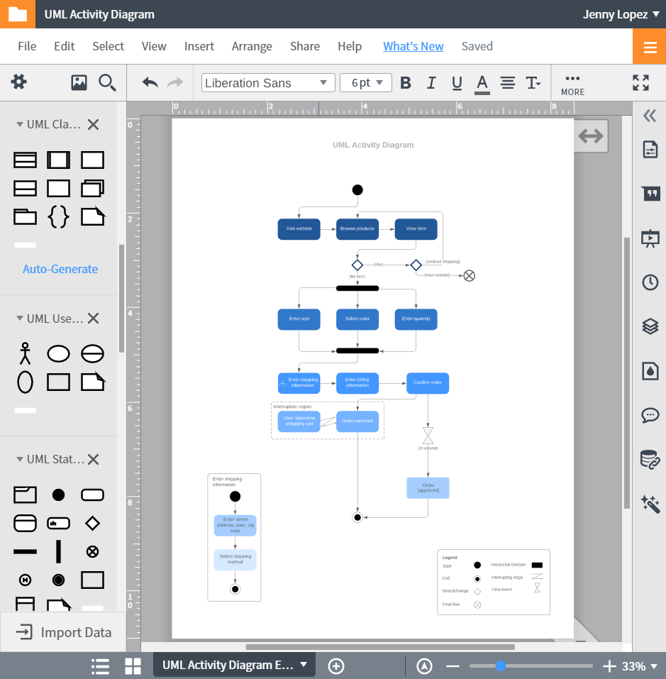 Lucidchart — конструктор диаграмм UML