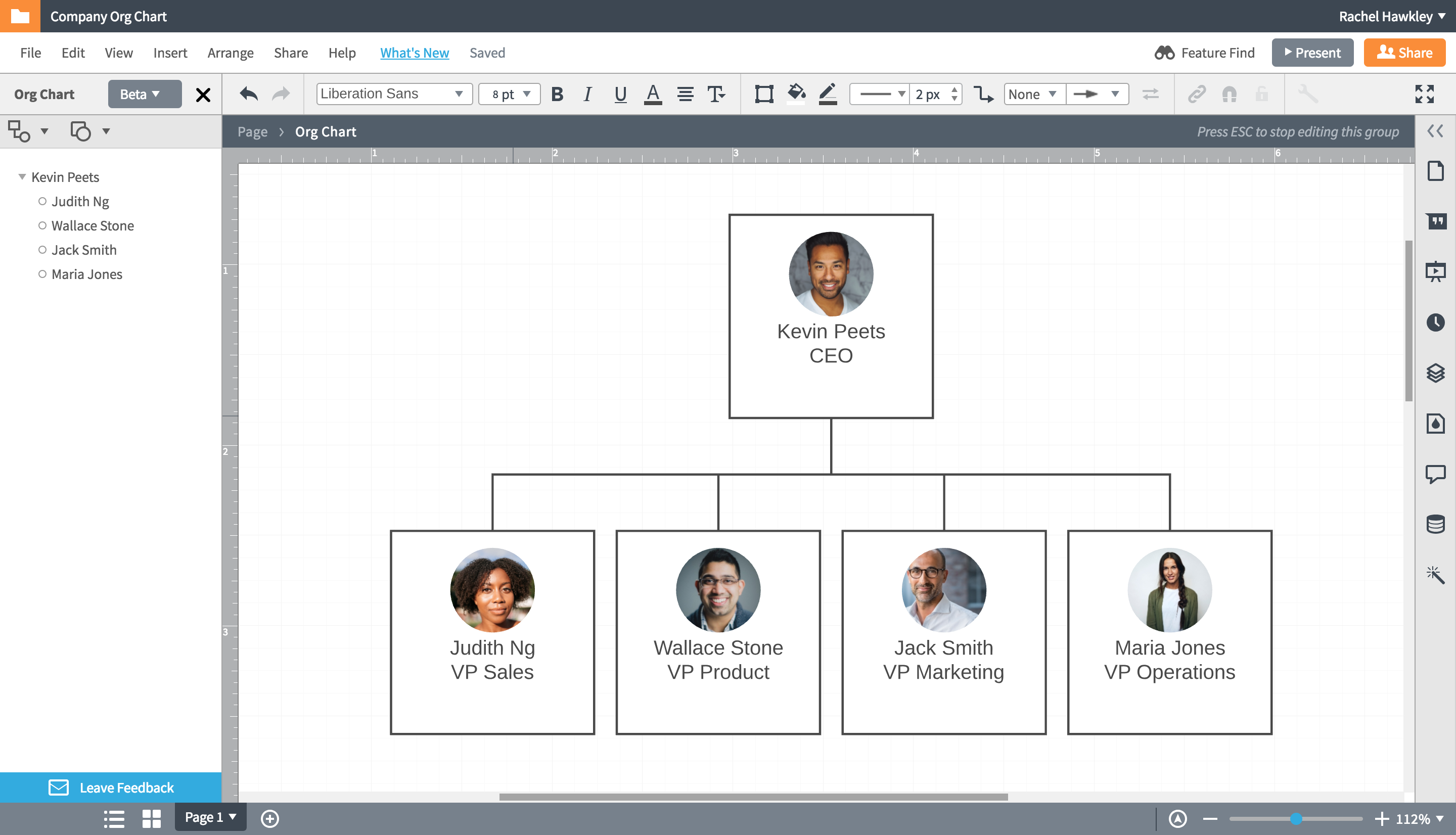 How to Make an Org Chart in PowerPoint - Imported Org Chart in Lucidchart