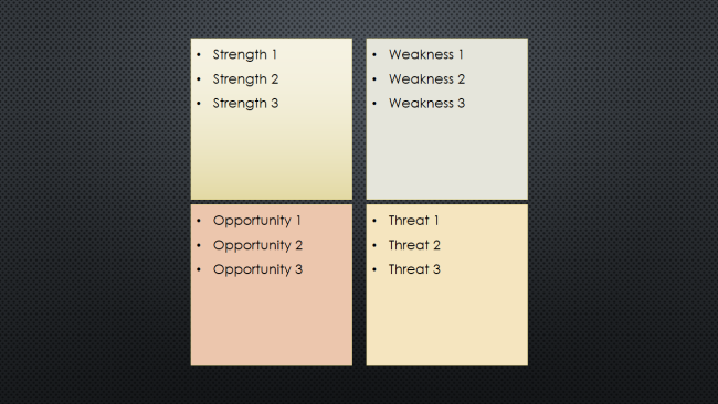 how to create a swot analysis diagram in powerpoint lucidchart