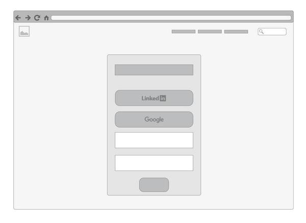login page wireframe template