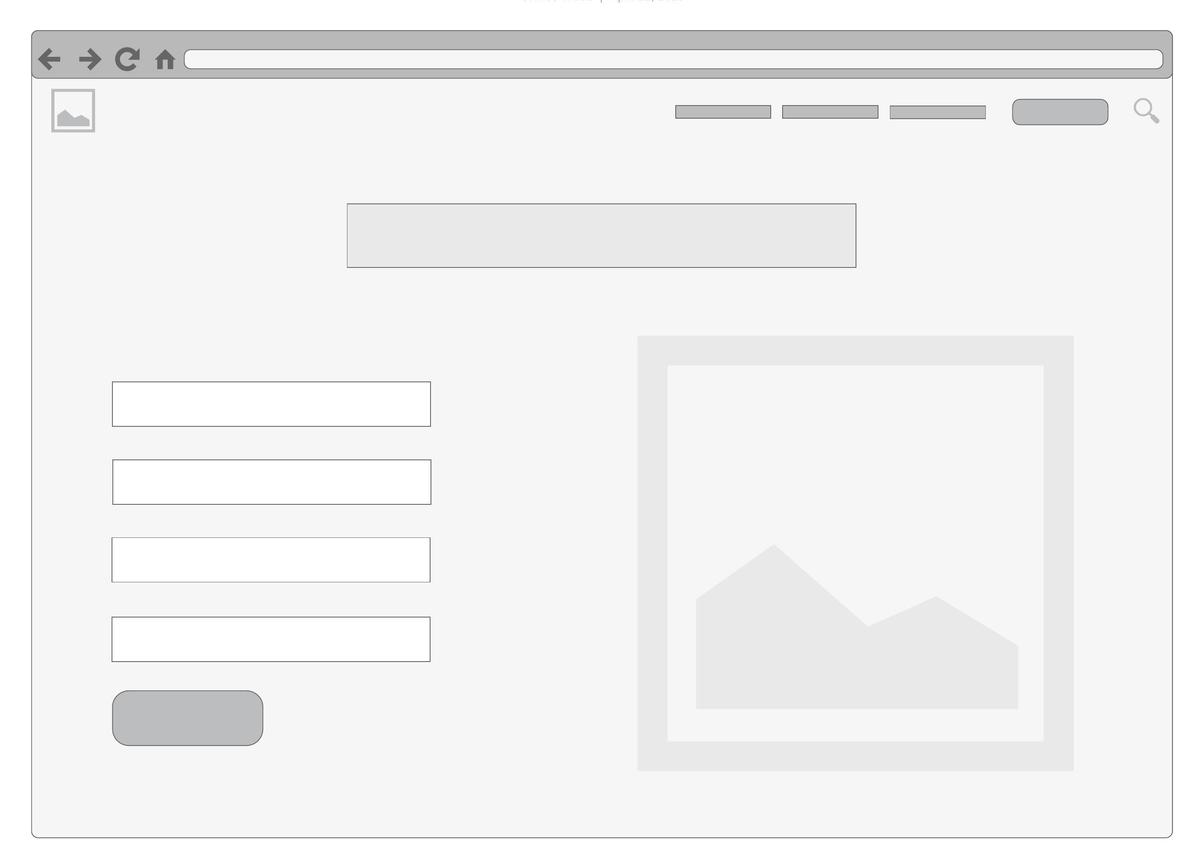 registration page wireframe template