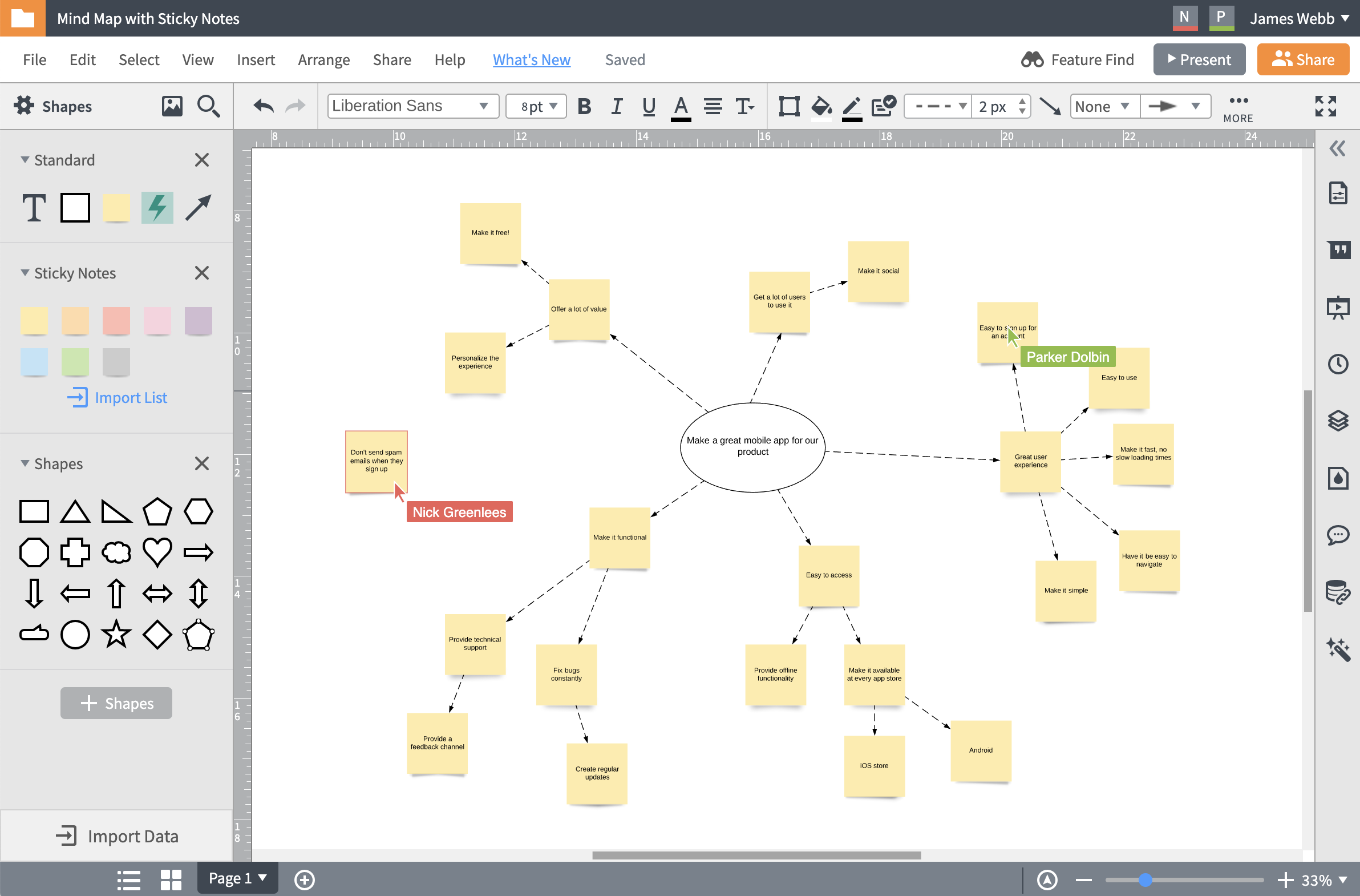 real-time collaboration Lucidchart