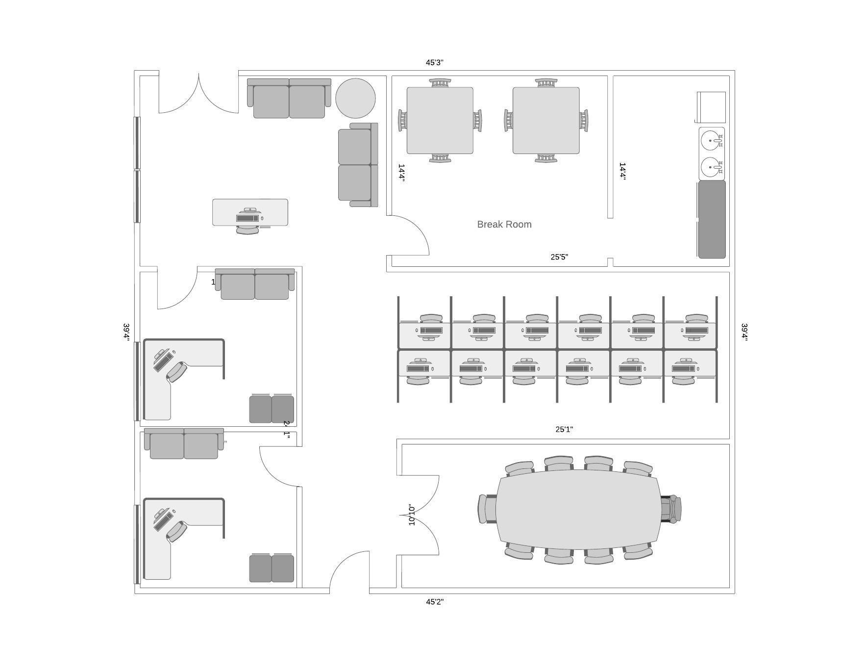 exemple de plan de niveau d'un bureau