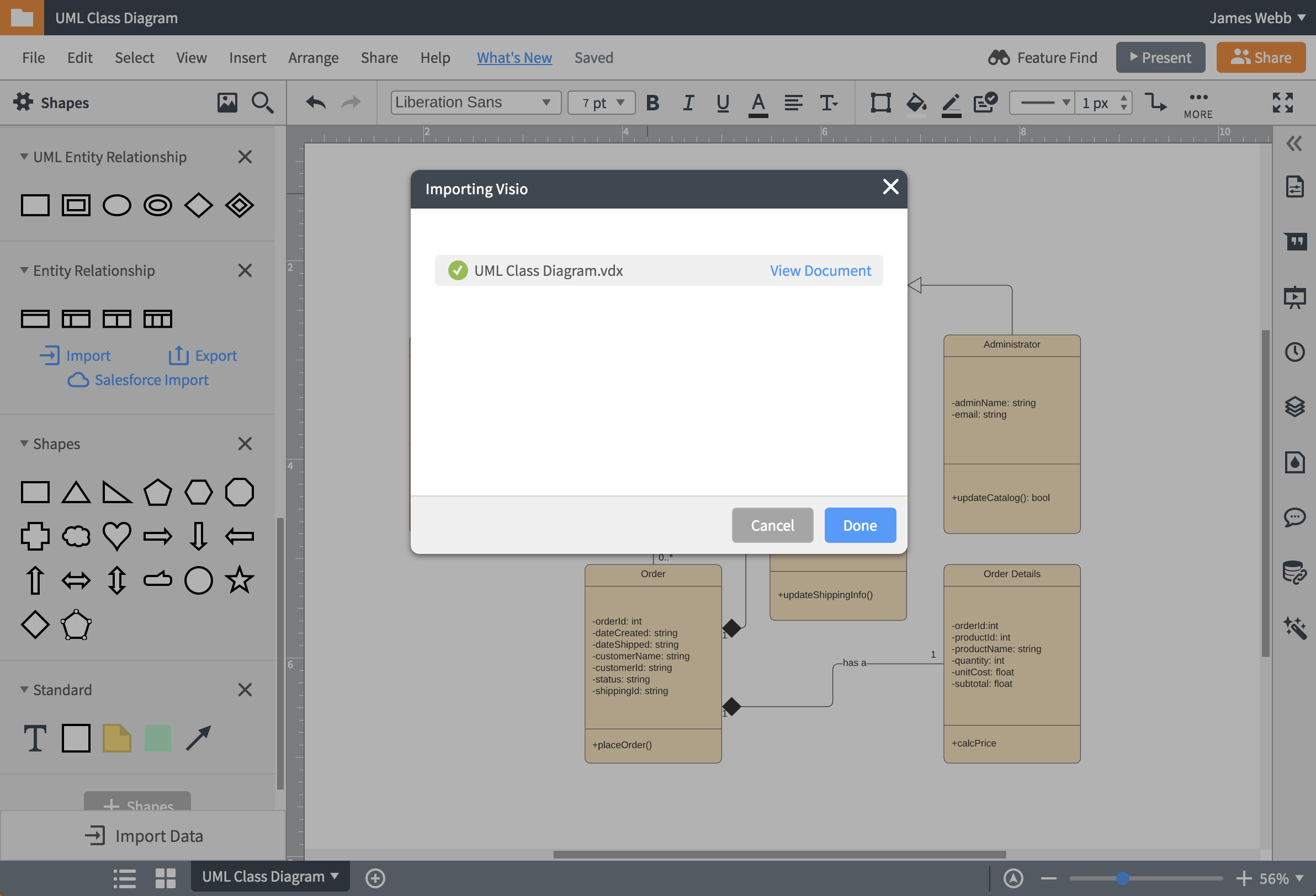 Lucidchart Omnigraffle import feature