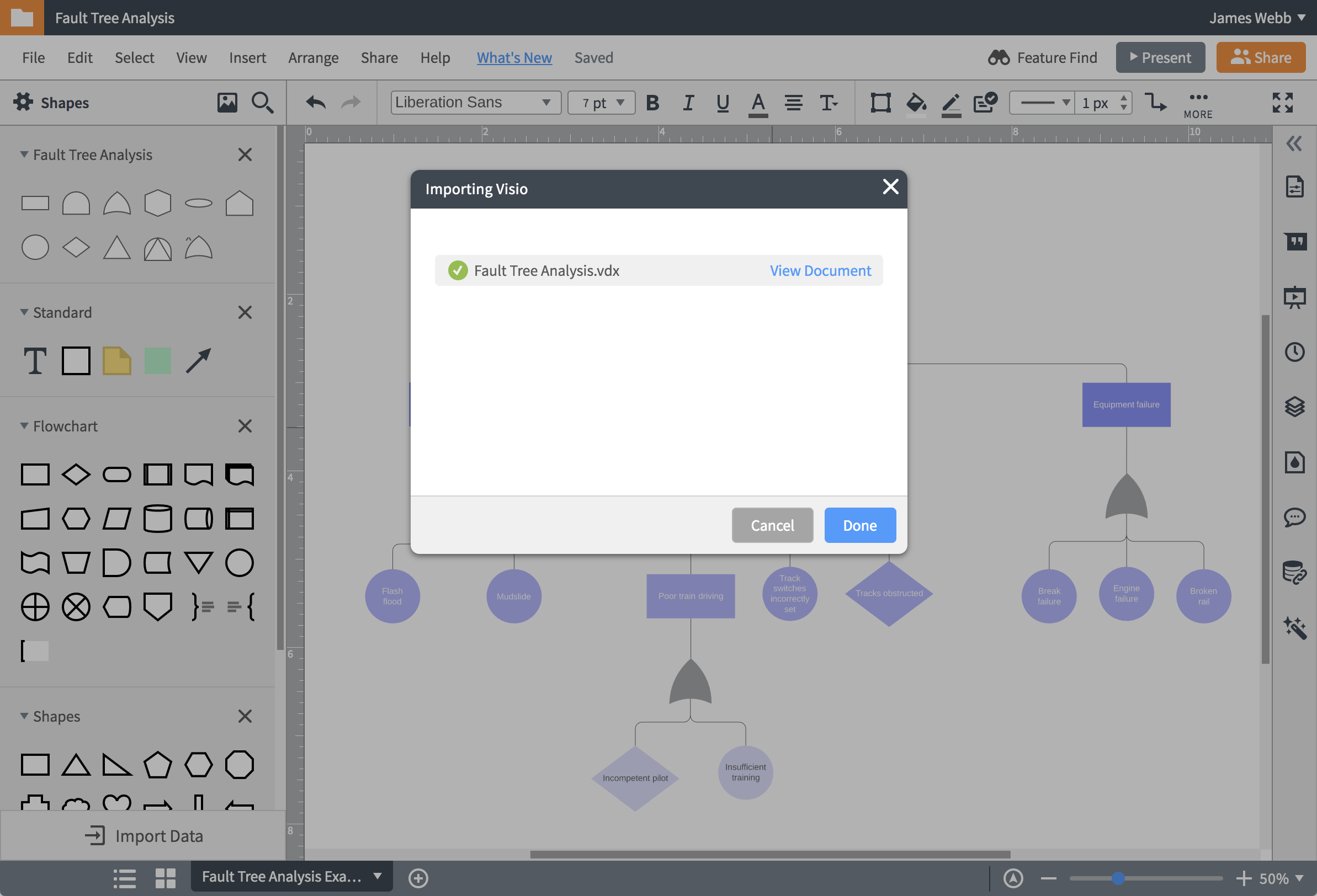 lucidchart smartdraw import feature