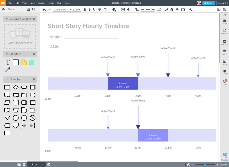 Stack and modify timelines