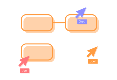 Diagram showing many users working together.