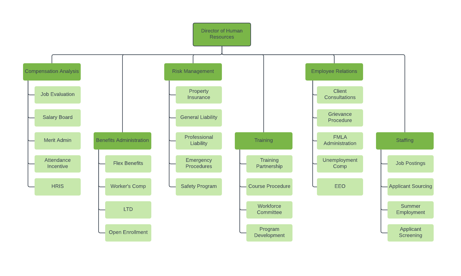 Superior HR Org Chart Template
