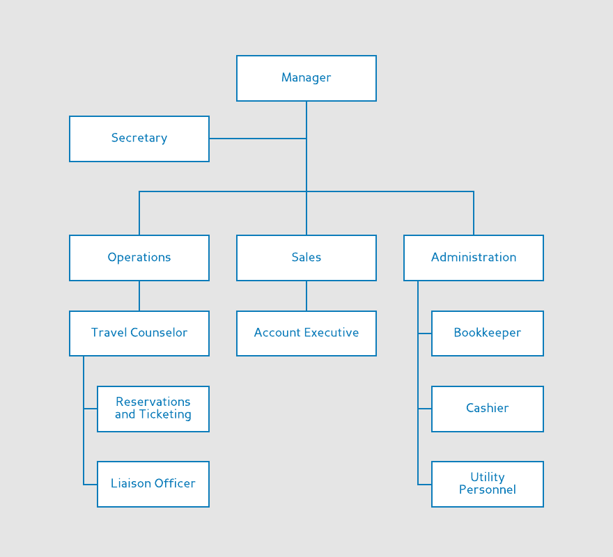 Travel Agency Org Chart Template