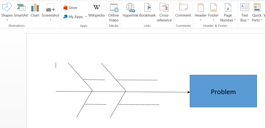 add a fishbone diagram in word