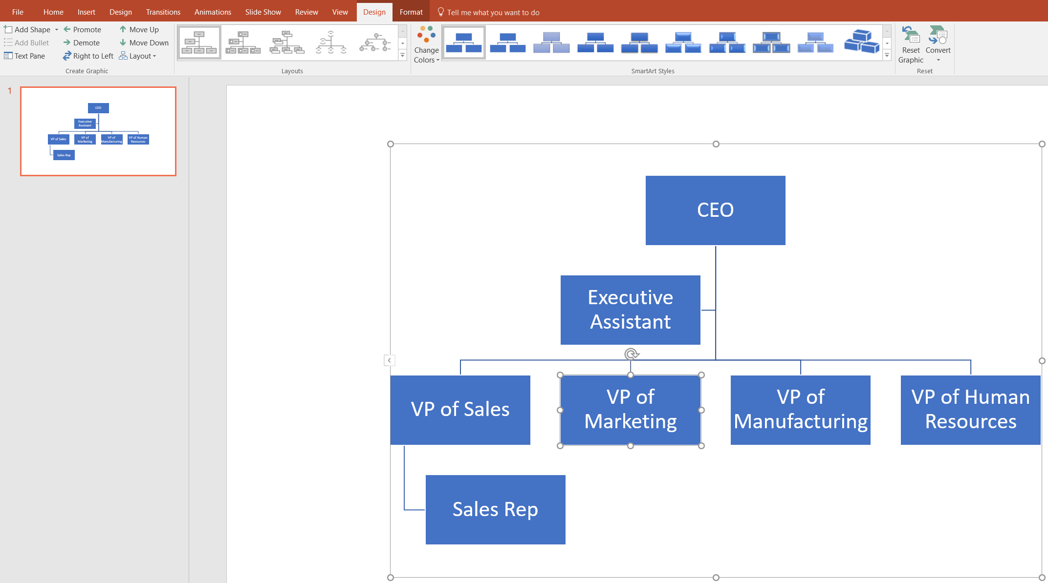Make an Organizational Chart in PowerPoint