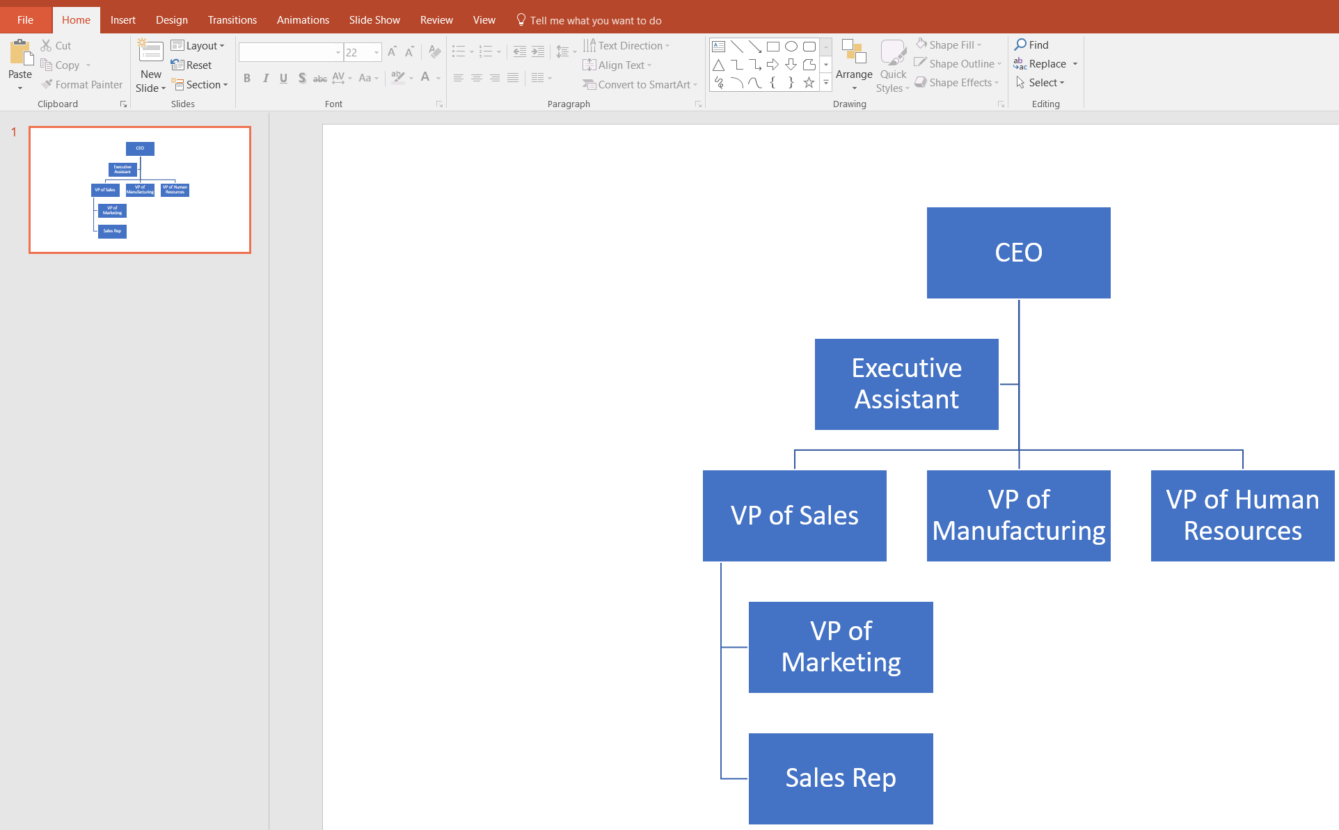 Create an Organizational Chart in PowerPoint