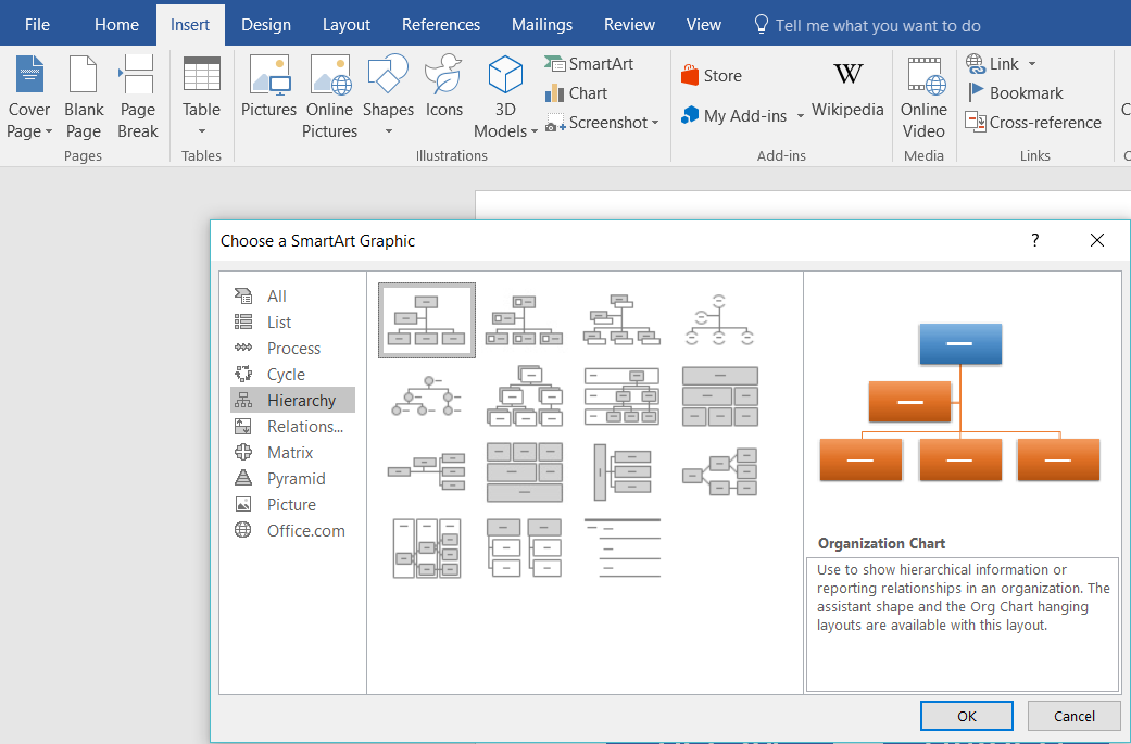 How to Make an Org Chart in Word – How to Make a Chart in Word
