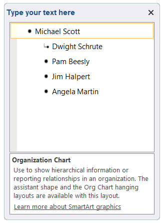 how to make an organizational chart in word