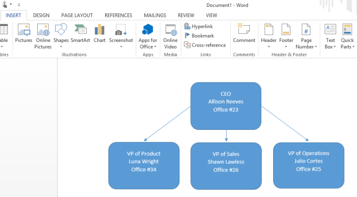 How to Make an Org Chart in Word | Lucidchart