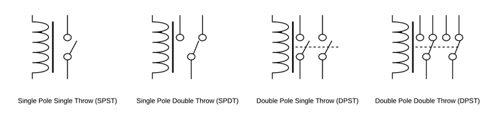 relay circuit diagram symbols