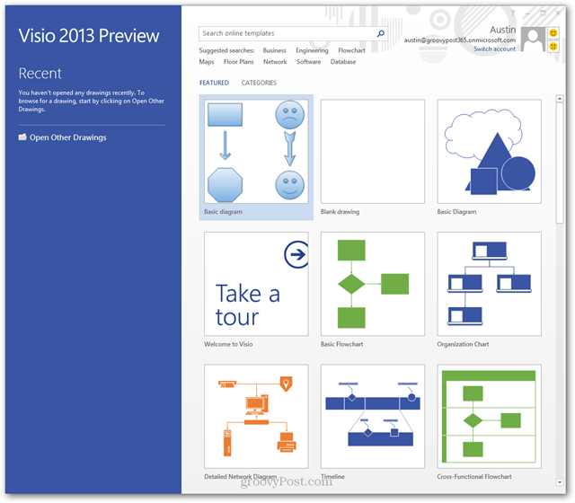 Visio template library