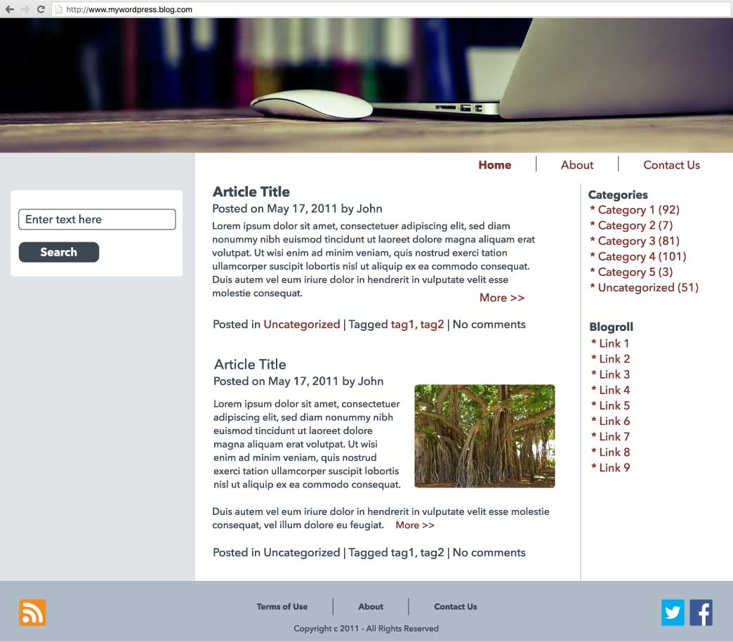 wordpress mockup