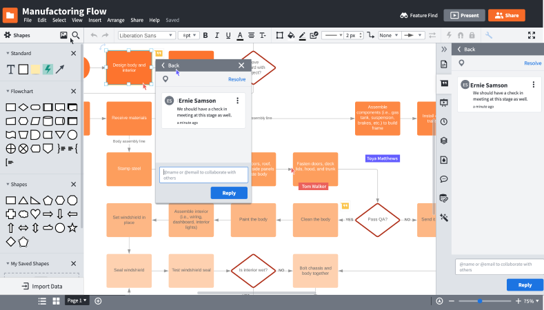 How to use Lucidchart for real-time collaboration