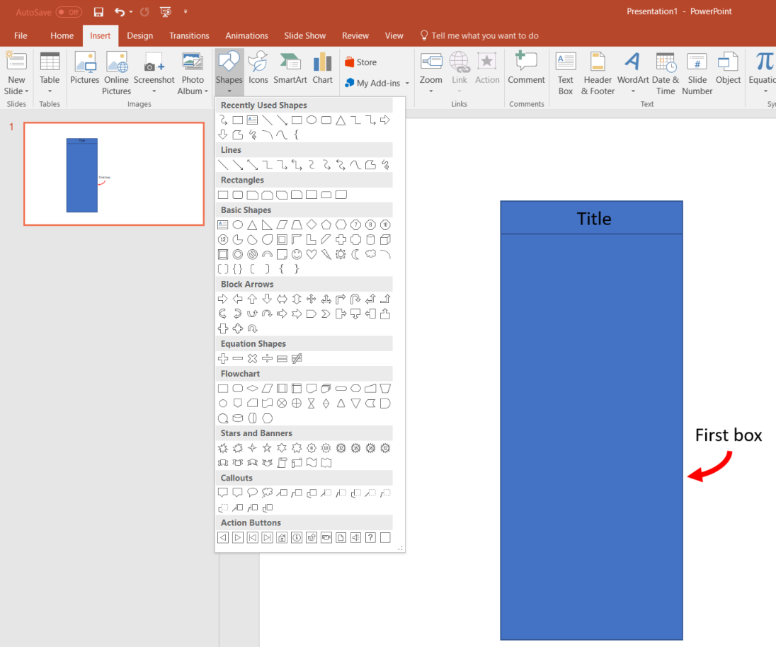 Create Swimlanes in PowerPoint