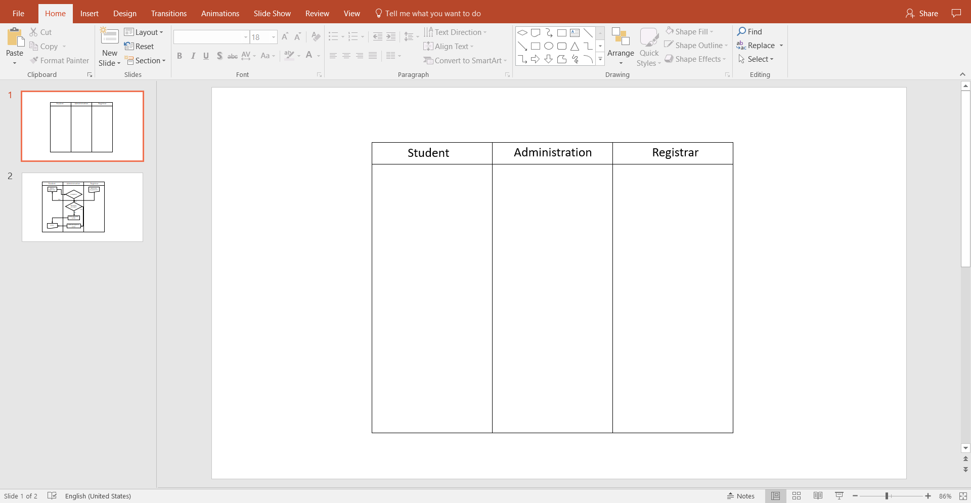 Drawing Lines In Powerpoint : How to create a swimlane diagram in powerpoint lucidchart