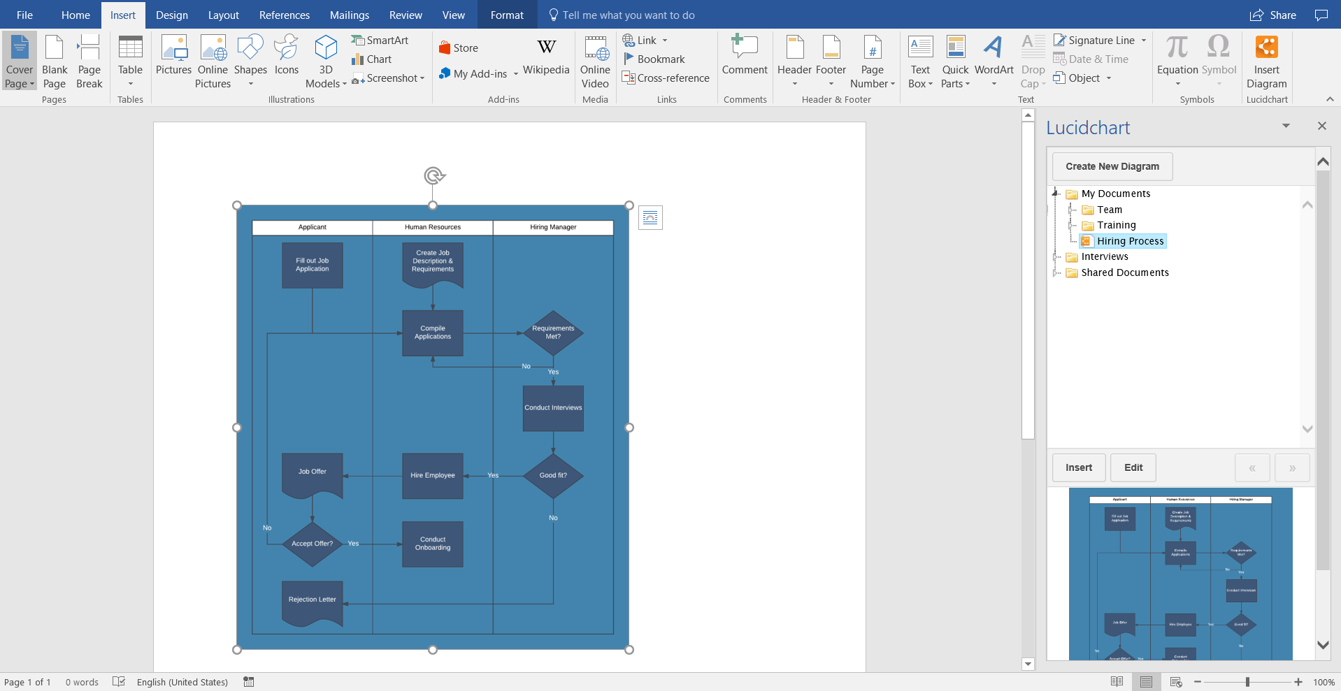 How to Create a Swimlane Diagram in Word | Lucidchart